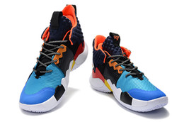 boys basketball shoes UK - sneakers Russell Westbrook II 2019 new why not kids basketball shoes sneakers zero 2 original trainers
