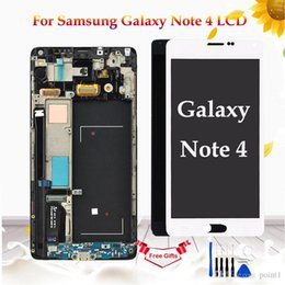 Note Digitizer Lcd Screen Display Australia - AMOLED For Samsung Galaxy Note 4 N910 N910F N910A Display Touch Screen Digitizer Assembly For Samsung Note 4 N910 LCD Screen