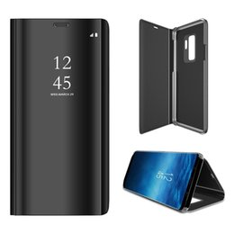 View Window Case Australia - For Samsung J710 J2 J3 J4 J5 J6 J7 J8 Pro Plus Core Prime 2018 Electroplate Plating PC Smart Clear View Window Vertical Flip Standing Case