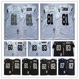 Mens Stitching jerseys 82 AI Davis 87 Dave Casper 60 Otis Sistrunk 83 Ted  Hendricks Regression Black White jerseys Wholesale da7be646c