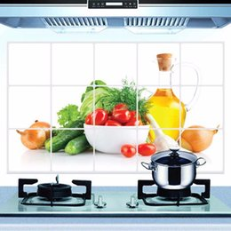 Wall Sticker Fruits Australia - 1PCS 75*45cm Kitchen Oilproof Removable Wall Stickers Aluminum foil Art Decor Home Decal Fruit oil stickers wall stickers 801