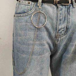$enCountryForm.capitalKeyWord Australia - Men Boy Punk Hip-hop Trendy Belt Waist Chain Multilayer Male Pants Chain Jeans Punk Silver Metal Big Ring Pants Chains