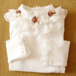 $enCountryForm.capitalKeyWord Australia - Baby Girls T-shirt Spring Autumn New Children Clothing 4 6 8 10 12 13 Years Old Long Sleeved Kids Flowers Cotton Toddler Blouse MX190730