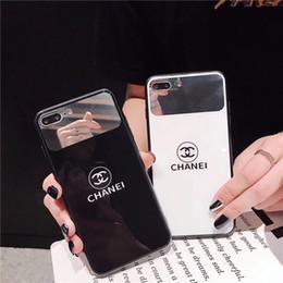 $enCountryForm.capitalKeyWord Australia - Makeup Mirror Glass Phone Case Luxury For Apple iPhone X xr XS MAX Tide Brand Cases