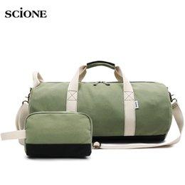 1b22e3e73b Yoga Fitness Gym bag Canvas Handbags Sports Travel Bags Women Tas Travel  Training Pink Sac De Sport 2 PCS Sets Duffle XA574WA  181996