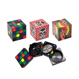 Cube diameter online shopping - The printing pattern of the new type of magic cube metal smoke grinder with diameter of mm can be customized