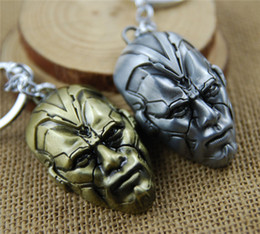 batman figure wholesale NZ - 17 styles 2020 NEW Marvel Avengers Thor's Hammer Mjolnir Keychain Captain America Shield Hulk Batman Mask KeyChain Keyrings 01 newv001