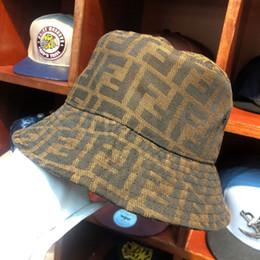 Discount ladies bucket sun hats - Women Bucket Hat Fishing letter print Cap Ladies Summer Sun Hat Women Bucket Hat Street Style cap LJJK1668