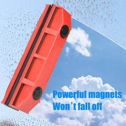 wipers for glasses NZ - Magnetic Window Cleaner for Glazed Window Double Sided Brushes Glass Wiper Clean Power Magnets