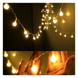 Metal Patio Australia - LED String Lights Warm White Ball Fairy Lights Waterproof Decorative Starry Lights for Bedroom Patio Parties Battery Powered Romantic