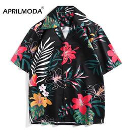 Plus Size Gold Shirt Australia - 2019 Hawaii Shirt Men Casual Loose Camisa Masculina Beach Hawaiian Holiday Party Floral High Quality Shirts Male Plus Size Shirt