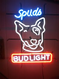 bud light beer neon sign Australia - New Star Neon Sign Factory 17X14 Inches Real Glass Neon Sign Light for Beer Bar Pub Garage Room Bud Light Dog.