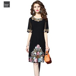 mini robe cocktail Australia - Women Summer Embroidery Dress Female Elegant Cocktail Vestidos Sundress Robe Femme Office Plus Size S 4Xl Drop Shipping