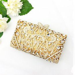 Golden Hand Bags Australia - Fairy2019 File High Name Pretty Girl Boutique Luxurious Rhinestone Golden Twinkle Hand Take Evening Woman Package Packet