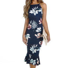 Discount babes dresses - 2019 Spring Fashion Sexy Women Off Shouder Blooming Babe Floral Dip Hem Party Evening Bodycon Midi Ladies Dresses For Fe