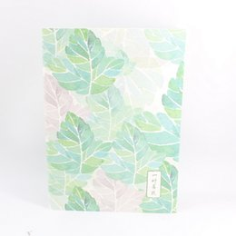 Wholesale 2019 New Fashion Novelty Paper Plants Serie Block notes / Notbook / Transcript / Magic book Per School Office Stationery