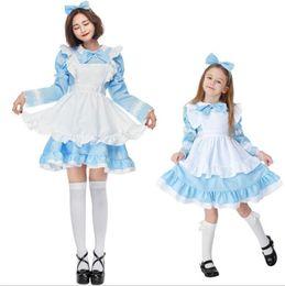 $enCountryForm.capitalKeyWord Australia - New Fancy Girls Alice In Wonderland Fantasy French Blue Light Tone Family Dress Lolita Maid Outfit Maid Costume Waiterress Maid Dress