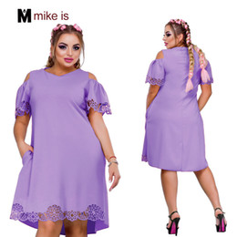 Dress Big Size Knees NZ - 2018 New Designer Women Dress Plus Size 6XL Vestidos Ladies Female Summer Dress V Neck Knee Length Dresses for Party Big Size T5190608