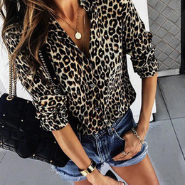 $enCountryForm.capitalKeyWord NZ - Chiffon Blouse For Women Sexy Leopard Printed Shirts Spring Long Sleeve Tops Blouse Plus Size Tops Blusas Mujer De Moda 2018