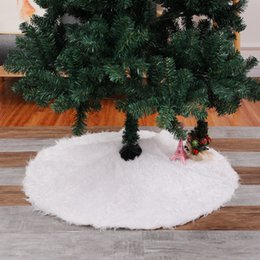 holiday party skirts Canada - Handicraft Home Practical Party Supplies Holiday Christmas Tree Skirt Carpet Home Decoration White Plush Round Ornament Cover