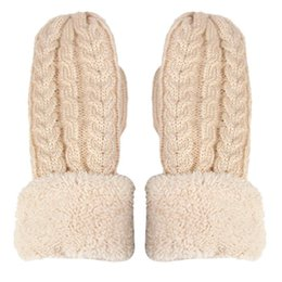 Back To Search Resultsapparel Accessories New Winter Gloves Women Female Wool Mittens Knitted Cashmere Twisted Warm Glove Driving Driver Car White Gloves Girl Ho980715 At Any Cost