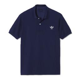 Discount cotton spandex t shirt mens - 2019 New fashion mens tshirt summer short top quality cotton POLO shirts famous designers brand slim fit t shirt men