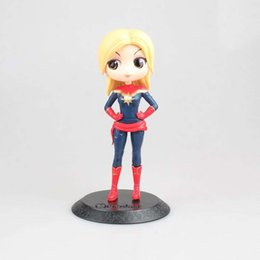 Chinese  Funko pop Action Figures Marvel Big Eye Doll Series Black Widow   Surprise Captain Marvel Hand Model Mengniang Standard and Doll Machine manufacturers