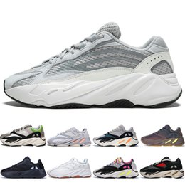 7e400e52e With Box 2019 Kanye West 700 V2 Static 3M Mauve Inertia 700s Wave Runner  Mens Running shoes for men Women sports sneakers designer trainers