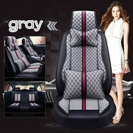 Summer Seat coverS online shopping - Summer new type colorful Car mat four season general all clusive cloth art car interior accessories full set car seat cover