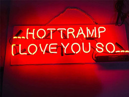 Hot Bar Australia - New Star Neon Sign Factory 17X8 Inches Real Glass Neon Sign Light for Beer Bar Pub Garage Room ...HOT TRAMP I LOVE YOU SO....