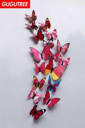 $enCountryForm.capitalKeyWord Australia - Decorate home 3D buttlefly cartoon art wall sticker decoration Decals mural painting Removable Decor Wallpaper G-831