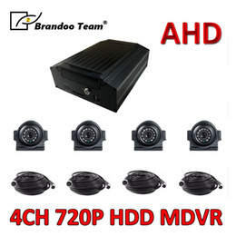 car front side view camera UK - Hot Sale Front Back Side View Car AHD Camera +4ch HDD AHD Car Dvr Mobile Dvr Kits Free Shipping