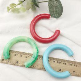 heavy earrings 2019 - IGU Autumn Winter Large Heavy Resin Hoop Earrings Women Red Green Blue White Geometric Circle Earrings Wholesale cheap h