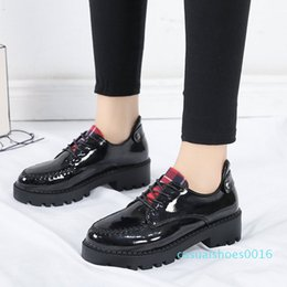 women wedges pumps casual shoes Canada - Xiaying Smile Heel Pumps New Fashion Casual Shoes Women Spring Autumn Concise Hell Platform Lace-up Wedges Pumps Sewing Shoes c16