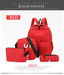 Korean unisex bacKpacKs online shopping - Men s and women s Backpack female Korean version of the new college wind backpack campus leisure wild high school student bag