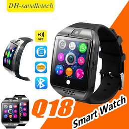 $enCountryForm.capitalKeyWord Australia - Smart Watch Q18 Android Watch Bluetooth Smartwatch Wristband For SAMSUNG HUAWEI Camara SIM Card Retial box