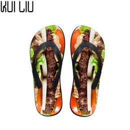 Discount ladies purple canvas shoes - Customized Casual Women Slip-on House Slippers 3D Printed Flats Beach Shoes Woman Summer Flip Flops for Ladies Sandals