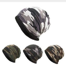 Camouflage Hats Australia - Women Men Hat Warm Baggy Camouflage Crochet Winter Ski Beanie Skull Caps Hat Hiking Caps gorras hat gorros hombre invierno D141
