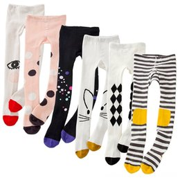 kids cat pant Canada - Spring Girls Tights Cartoon Cat Girl Pantyhose Cotton Pants Baby & Kids Clothing Knitted Cotton Cute kids Stocking Baby Pantyhose Tight