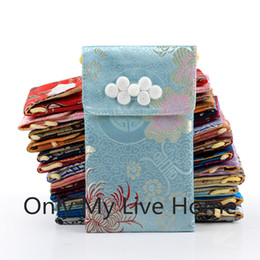 Cell Phone Pouch Neck Australia - Neck rope Chinese knot Silk Pouch Bag Glasses Cell Phone Pouch Covers High End Craft Women Universal Phone Bag 17.5 x 10 cm 10pcs lot