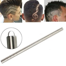 shaved hair styles Australia - Steel Haircut Razor Shaving Pen Eyebrow Beards Engraved Razor Pen Salon Hair Styling Eyebrow Shaping Tool