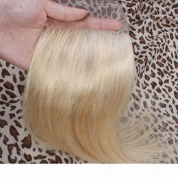 Malaysian Virgin Blonde Lace Closure Color 613 Silk Straight Human Hair Closure 130% Density Platinum Blonde Swiss Lace Top Closures Piece