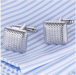 silver jewelry dropship NZ - 2019 Top Sale Cufflinks Classical Cuff links Silver-Color Cuffs Wedding Lovers' Gift Gemelos Cuffling DropShip Men Jewelry
