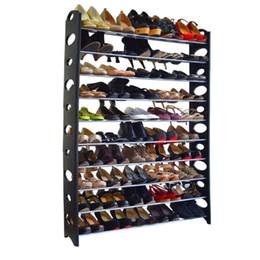 Chinese  10-Tier Shoe Rack For 50 Pair Wall Bench Shelf Closet Organizer Storage Box free US shipping manufacturers