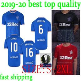 Thai Red Shirts Australia - Thai quality 2019 2020 Rangers FC Home Blue TAVERNIER Soccer Jerseys 19 20 Glasgow Rangers Away red MURPHY Football Shirt Uniform