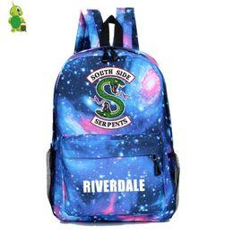 $enCountryForm.capitalKeyWord UK - Riverdale South Side Backpack Mochila School Bags For Girls Boys Women Men Casual Travel Bag Galaxy Children Book Bags Kids Gift Y19061102