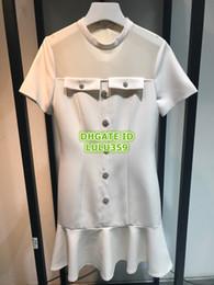 Rhinestone White Short Dress Australia - 2019 Women's Rhinestone Shirt Dress Sheer Dress Brief Crew Neck Knee-Length Short Sleeve Dress SMLXL 2019