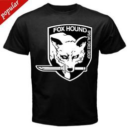 $enCountryForm.capitalKeyWord Australia - Anime Print Tee Fox Hound Metal Gear Solid old classic retro game T-Shirt Black Basic Tee O-Neck Streetwear Tees