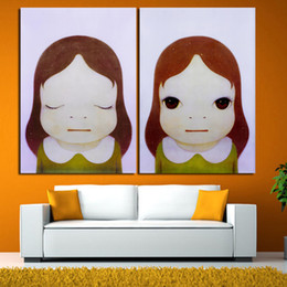 doll paintings NZ - Yoshitomo Nara Cartoon Canvas Art Pictures Sleepwalking Doll Drawing Japanese Painting Prints For Baby Kids Children Room Decor