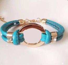 $enCountryForm.capitalKeyWord NZ - Fashion Accessories Handmade Retro PU Leather Bracelet Ladies Fashion Bracelet Men Women Chain Pendant Gift Bag Accessories